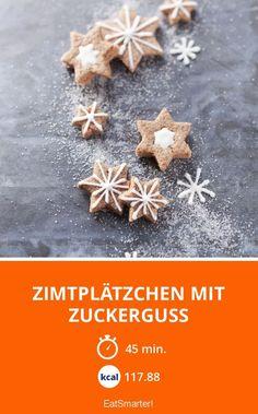 Zimtplätzchen mit Zuckerguss - smarter - Zeit: 45 Min. | eatsmarter.de