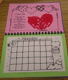 handprint calendar- uses handprints and poems for each month, way to learn months and can be used as gift for christmas