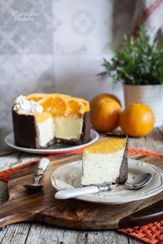 Chocolate And Orange Tart, Chocolate Cake, Dessert Presentation, Orange Frosting, Mousse Cake, No Bake Cake, A Food, Panna Cotta, Cheesecake