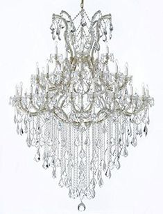 Large Foyer / Entryway Maria Theresa Empress Crystal (Tm) Chandelier Lighting H 72 W 52 Crystal Chandelier Lighting, Outdoor Chandelier, Large Chandeliers, Crystal Sconce, Old Fashioned Christmas Decorations, Entryway Lighting, Hall Lighting, Luxury Lighting, Lighting Ideas