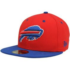 NFL Buffalo Bills Two Tone 59Fifty Fitted Cap by New Era. $15.04. Show Your Team Spirit with This National Football League 2Tone 59Fifty Fitted Cap. Features An Embroidered (Raised) Team Logo At Front, A Stitched New Era Flag At Wearer'S Left Side. Interior Includes Branded Taping and A Moisture Absorbing Sweatband. Fitted, Closed Back.