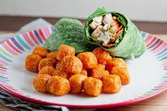 Ginger sesame chicken wrap