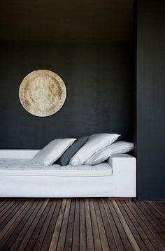 ♂ black & white minimalist interior