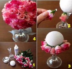 Casamento e Noivado Diy : ♣ Tutorial simples arranjo de flores ♣