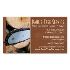 Firewood/Tree Service Business Card. This is a fully customizable business card and available on several paper types for your needs. You can upload your own image or use the image as is. Just click this template to get started!