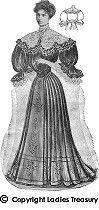evening costume, 1907 (i like the skirt)