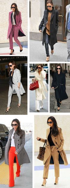 Style Icon Victoria Beckham - long coats