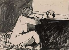 Untitled (Two Figures)  Richard Diebenkorn