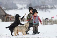 romania - winter on the street - iarna pe ulita Romania People, Kids Around The World, Countries Of The World, Animals For Kids, Tigger, Little Boys, Winter Wonderland, Cool Pictures, Childhood
