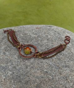 Look at this Coppertone & Leather Beaded-Hoop Bracelet on #zulily today!