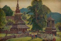 Martin Benka - Pred kostolom, 1926