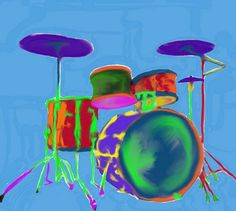 Music arte drums 60 ideas for 2019 Drums Artwork, Music Artwork, Music Painting, Painting For Kids, Music Crafts, Zodiac Art, Music Images, Art Lessons, Drawings