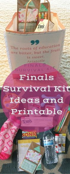 Finals Survival Kit Ideas and PrintableYou can find Survival kits and more on our website.Finals Survival Kit Ideas and Printable Survival Kit Gifts, Survival Supplies, Survival Food, Survival Tips, Wilderness Survival, Emergency Preparedness, Dorm Survival Kits, Survival Skills, Emergency Kits