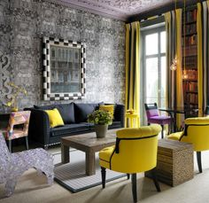 Number Sixteen (Hotel).  Library. London. Kit Kemp Designer. -via Interior Canvas