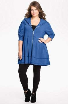 The Comforable Woman thinks it is time to stock up on Hoodie Dresses for the fall. Pink Lotus Pleated Tunic Hoodie (Plus Size) | Nordstrom