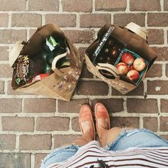 Buy groceries for yourself, and be all grown up and stuff. // Do this when you are doing the two week meal plan. Make sure to wear a cute outfit too!