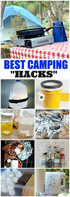 10 Camping Hacks Tips DIY Outdoor Toilet Campfire Cones More