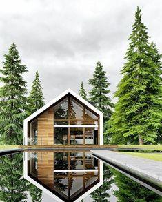 Modern Barn House, Modern House Design, Modern Cabins, Future House, Design Exterior, A Frame House, Dream House Exterior, Cottage Design, House In The Woods