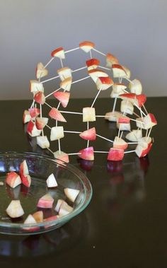 Building with Apples from Fun at Home with Kids - interesting way to serve apples to kids