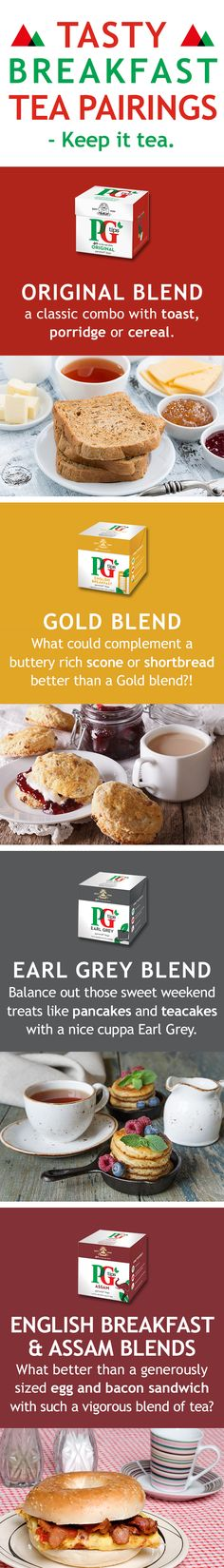 The top 4 best breakfast-tea combos! For all tastes and moments of the week, we have a perfect tea blend. Whether you fancy something sweet, salty, hearty or light, we have just the right tea blend for you at PG Tips. Come have a gander and try some of our pairings, you will not regret it! Remember, for a tea-licious breakfast, make sure to keep it tea!