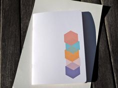 notebook journal geometric cubes by mipluseddesign on Etsy