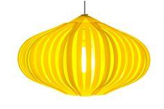 Lampe suspension Fig  L jaune par Klickity sur myfab