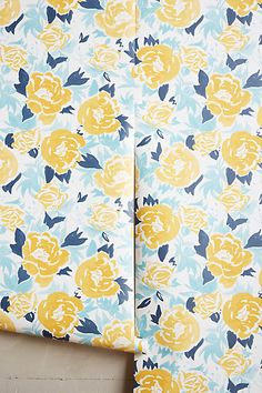 Drifting Blooms Wallpaper - anthropologie.com