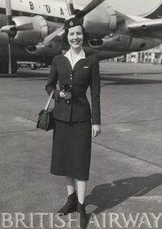 British Airways hostess, 1950s #travel #alookat #airlines