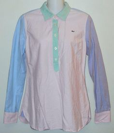 Vineyard Vines Multi Color Preppy Pastel Cotton Button Down Shirt. Free shipping and guaranteed authenticity on Vineyard Vines Multi Color Preppy Pastel Cotton Button Down ShirtCasual popover top from Vineyard Vines in multi co...