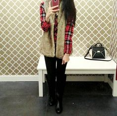 Fur + Flannel - winter outfit