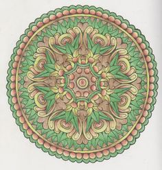 Magical Mandalas 011 done with pencils Creative Haven Coloring Books, Mandala Art, Sacred Geometry, Zentangle, Colors, Crafts, Design, Mandalas, Artists