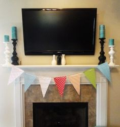 Paper Pennant Banner - Circus Party Decorations | Simply Salvage