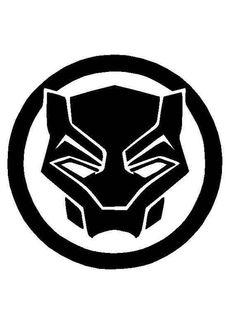 Black Panther Marvel, Black Panther Symbol, Black Panther Tattoo, Panther Logo, Black Panther Face, Avengers Symbols, Native Tattoos, Marvel Tattoos, Marvel Logo