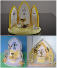 Adornos para tortas .- Communion Cakes, First Communion, Jesus Is Lord, Holi, Snow Globes, Cupcake Cakes, Biscuits, Cake Decorating, Frozen