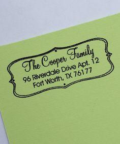 Another great find on #zulily! Modern Chic Personalized Self-Inking Stamp by 2712 Designs #zulilyfinds