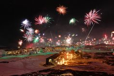 Nuuk, Capitol of Greenland. New Year's