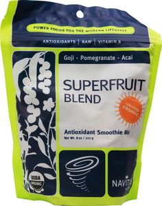 Navitas Naturals Organic Superfruit Blend Antioxidant Smoothie Mix -- 8 oz