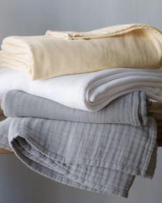 Eileen Fisher Gauzy Cotton Blanket: Remodelista wonderful lite summer blanket!