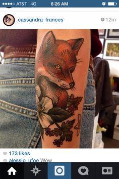 Fox tattoo Fox Tattoo, Animal Species, Burlesque, Cool Tattoos, Arms, Ink, My Style, Inspiration, Sleeve