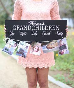 'Grandchildren' Personalized Wall Sign
