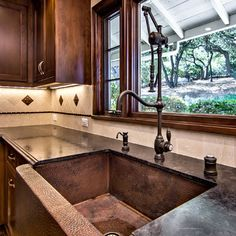 Native Trails Copper Kitchen Apron Front Sink by Bill Fry Construction