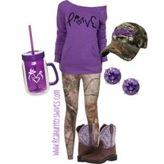 Love this so much!!! I'm such a big fan of purple and such a fan of camo, can't get any better than this