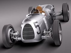 Audi Toolmaking, a division of the German automobile manufacturer, has produced a printed replica of the Auto Union Type C, a Grand Prix racing car made by Auto Union in Automobile, Auto Union, Old Race Cars, Vintage Race Car, E Type, Audi Cars, Grand Prix, Courses, Fast Cars