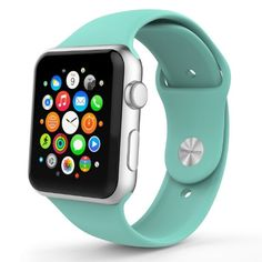Amazon.com: MoKo Apple Watch Band Series 1 Series 2, Soft Silicone Replacement Sports Band for 38mm Apple Watch 2015 & 2016 All Models, Mint GREEN (Not fit 42mm Versions): Cell Phones & Accessories
