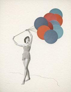 Balloons print by Violet May $32