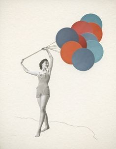 Balloons print by Violet May $32