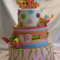 Flip Flop Cake...Wish I could convince my daughter to go with this theme!!!