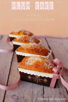 Storie da mordere: Mini plum cake al cocco con cioccolato fondente