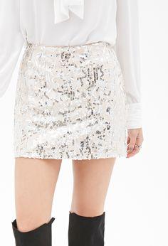 Minifalda Lentejuelas - faldas - 2000082771 - Forever 21 EU