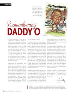Remembering Daddy O - By Cindy Burch